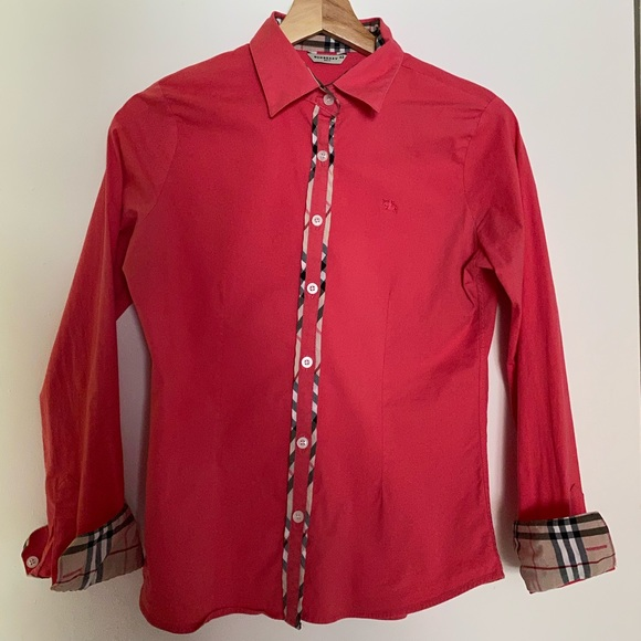Burberry pink dress shirt